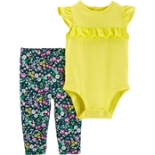 Carter's Infant Girls Lace Bodysuit and Pants 2 pc. Set