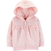 Carter's Infant Girls Ruffled Zip Up Hoodie