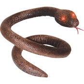 Brown Snake with Light Up Eyes Prop