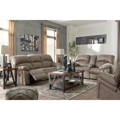 Signature Design by Ashley Dunwell Sofa, Loveseat, Recliner with Power Headrest