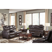 Signature Design by Ashley Warnerton Power Reclining Sofa, Loveseat and Recliner