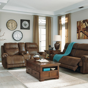 Signature Design by Ashley Austere Power Reclining Sofa, Loveseat and Recliner Set