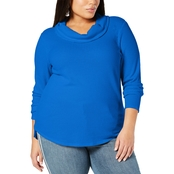 Style & Co. Plus Size Waffle Knit Cowl Neck Top