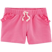 Carter's Little Girls Ruffle French Terry Shorts