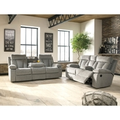 Signature Design by Ashley Mitchiner Reclining Sofa and Loveseat Set