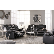 Signature Design by Ashley Vacherie Reclining Sofa, Loveseat and Recliner Set