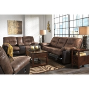 Signature Design by Ashley Follet Reclining Sofa, Loveseat and Recliner 3 pc. Set