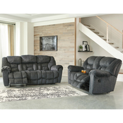 Signature Design by Ashley Capehorn Reclining Sofa and Loveseat Set
