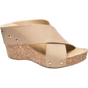 CL By Laundry Abloom Wedge Slide Sandals