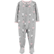 Carter's Toddler Girls Footed Ballerina Zip Up Pajamas