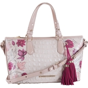 Brahmin Mini Asher Lotus Bloomsbury Leather Satchel