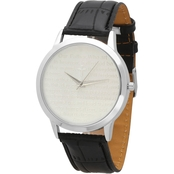 Men's Leather Band Prayer Watch 998010W