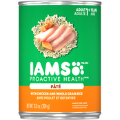 Iams Proactive Health Chicken and Whole Grain Rice Canned Dog Food, 13.2 oz.