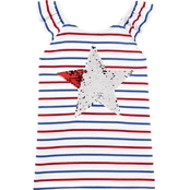 OshKosh B'gosh Little Girls Stars & Stripes Flutter Sleeve Top