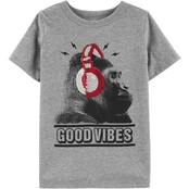 OshKosh B'gosh Little Boys Flip Sequin Gorilla Tee