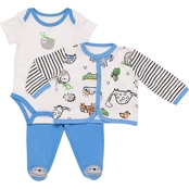 Baby Starters Infant Boys Let's Hang On Take Me Home 3 pc. Set