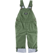 OshKosh B'gosh Infant Boys Spinach Convertible World's Best Overalls