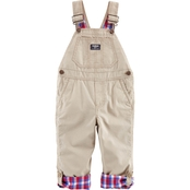 OshKosh B'gosh Infant Boys Khaki Convertible World's Best Overalls