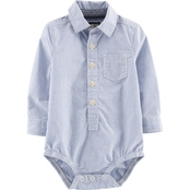 OshKosh B'Gosh Infant Boys Blue Stripe Bodysuit