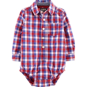 OshKosh B'gosh Infant Boys Red Check Bodysuit