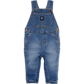 OshKosh B'gosh Infant Boys Knit Denim Overalls