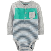 OshKosh B'gosh Infant Boys Chest Stripe Bodysuit