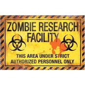 Sunstar Zombie Research Fact Metal Sign