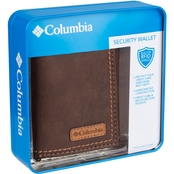 Columbia Men's RFID Leather  Trifold Wallet