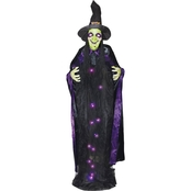 Witch with Stand 6 ft. Light Up Hanging