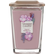 Yankee Candle Elevation Sugared Wildflower Large 2 Wick Square Jar Candle