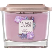 Yankee Candle Elevation Sugared Wildflower Medium 3 Wick Square Jar Candle