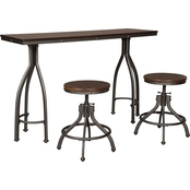 Signature Design by Ashley Odium Rectangular 3 pc. Counter-Height Dining Set