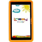 Linsay Kids Funny Quad Core Tablet with Orange Defender Case