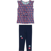 Gumballs Infant Girls Front Tie Top and Leggings 2 pc. Set