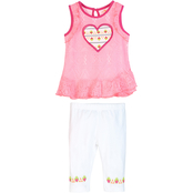 Gumballs Infant Girls Lace Top and Leggings 2 pc. Set