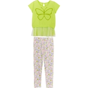 Gumballs Infant Girls Butterfly Top and Floral Leggings 2 pc. Set