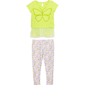 Gumballs Toddler Girls Butterfly Top and Leggings 2 pc. Set