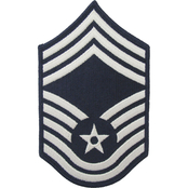 Air Force Chief Master Sergeant (CMSgt) Blue Chevron Large Rank