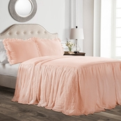 Lush Decor Ruffle Skirt Bedspread 3 pc. Set