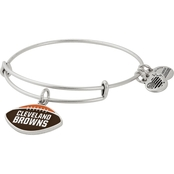 Alex and Ani NFL Football Color Infusion Charm Bangle Bracelet Cleveland Browns