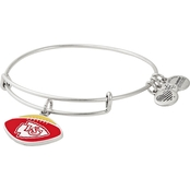 Alex and Ani NFL Football Color Infusion Charm Bangle Bracelet Kansas City Chiefs