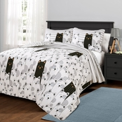 Lush Decor Striped Bear Quilt Set 2 Pc.
