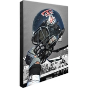 NCAA Team Helmet 16 x 20 in. Stretched Canvas Photo