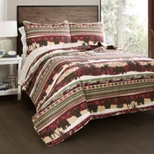 Lush Decor Holiday Lodge Quilt Set 3 Pc.