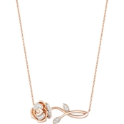 SS 1/20CTW BELLE NECKLACE WITH PINK PLATING