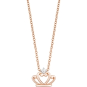 Disney Enchanted 14K Rose Gold Over Silver 0.03 CTW Princess Pendant