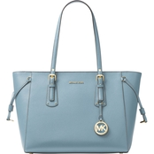 Michael Kors Voyager Medium Multifunction Top Zip Tote Powder Blue