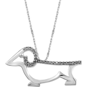 Animal's Rock Sterling Silver 1/10 CTW Diamond Dog Pendant