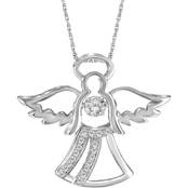 She Shines Sterling Silver 1/10 CTW Diamonds in the Sky Angel Pendant