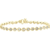She Shines Sterling Silver & 14k Plated 1/10ctw Diamond Link Miracle Bracelet
